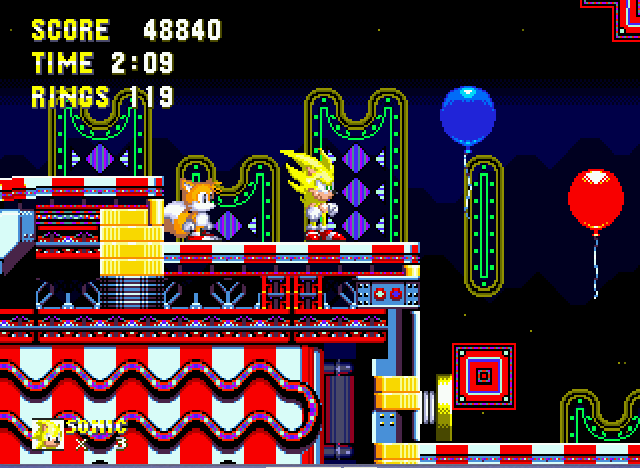 Sonic the Hedgehog 3 - s.sonic is x6 times faster - User Screenshot